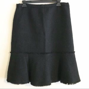 J. Crew Textures Wool Knee Length Petal Skirt
